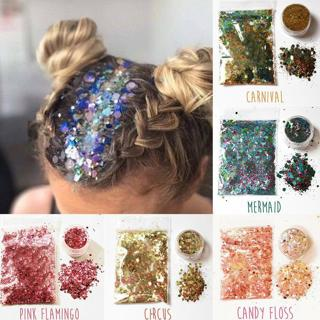 15 Colors Glitter Loose Sequins Powder Nail Art Eyeshadow Face Body Stage Makeup