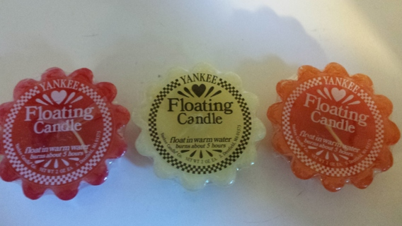 Yankee Candle Floating Tarts - 3 Count !