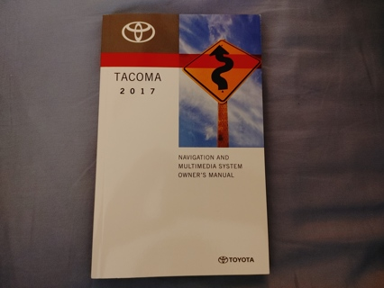 Toyota Tacoma 2017 Navigation And Multimedia System Owner's Manual