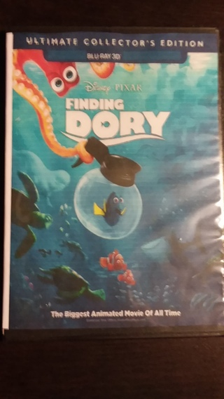 ⭐☃☃❄❄Disney & Pixar's Finding Dory Blu-Ray 3D Disc Only Ultimate Collector's Edition Brand New☃☃❄❄⭐