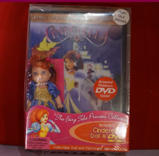 L@@K /CINDERELLA DOLL & MOVIE BRAND NEW IN ORIGINAL PACKAGE