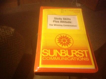 VHS VIDEO - STUDY SKILLS PLUS ATTITUDE: THE WINNING COMBINATION by SUNBURST COMMUNICATIONS