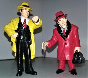 """Disney """"Dick Tracy"""" vinyl figures made in China by Applause: Dick Tracy & Big Boy Caprice"""