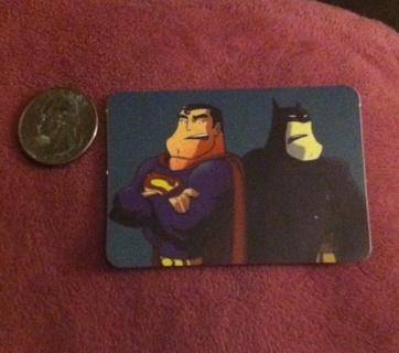 Superman and Batman Sticker/Read description before bidding