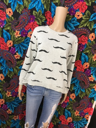 Forever 21 Mustache Sweater Pullover