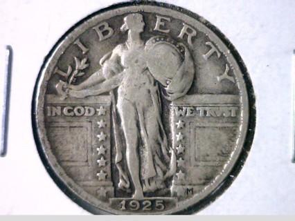 ★★★ 1925-P 90% Silver Standing Liberty Quarter Dollar Coin! ★★★
