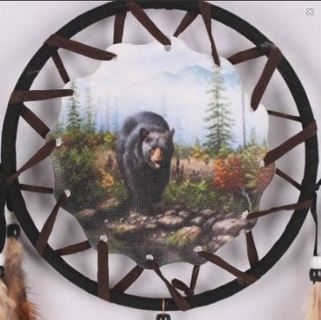 "1 NEW DREAM CATCHER 29.5"" Magestic Native Bear Art Feather Ornament Dream Catcher FREE SHIPPING"