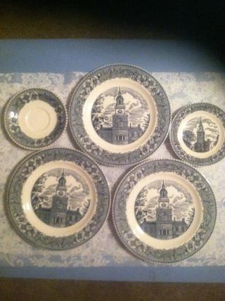 Free: Rare Vintage Cavalier Ironstone Colonial Heritage/ 5pc