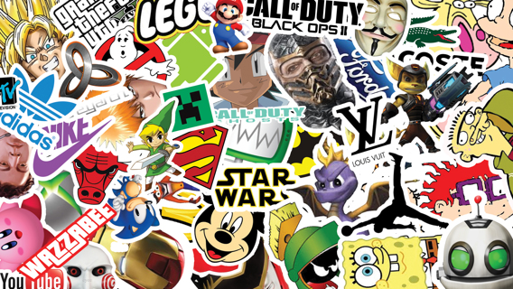NEW Stickers *Luck of The Draw*10 NEW Random Pop Culture Sticker Art Music Movies Fashion