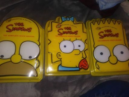 The Simpson's DVD collector's edition seasons 6,8 and 10