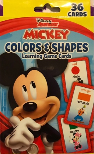 Mickey Mouse Colors and Shapes Learning Cards