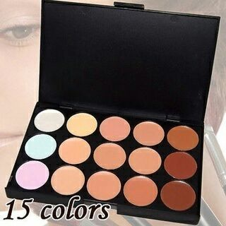 15 Colors Makeup Concealer Pro Face Cream Eyeshadow Contour Palette Foundation