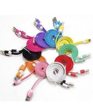 3 Ft flat iPhone 5/5S/5C noodle charging cord