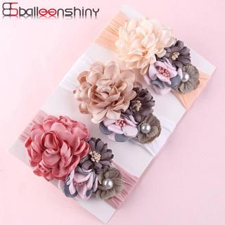 BalleenShiny Flower Princess Headband Baby Girls Super Soft Cute Pearl Turban Headwear Child Kids