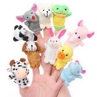 10pcs Finger Puppets Cloth Plush Doll Baby Educational Hand Cartoon Animal Toys