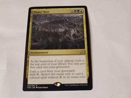 Magic the gathering mtg Titan's Nest Ikoria rare card