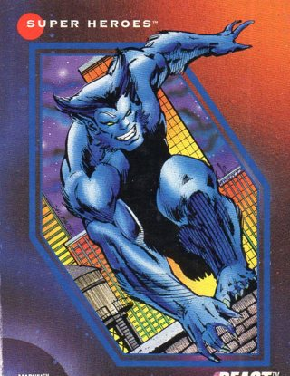 1992 Marvel Comic Trade Card: Beast