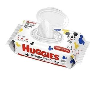 ⭐HUGGIES SIMPLY CLEAN WIPES PACK OF 64⚡