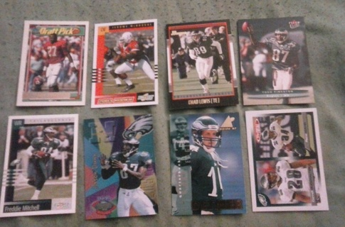 8 card Eagles lot rookie inserts