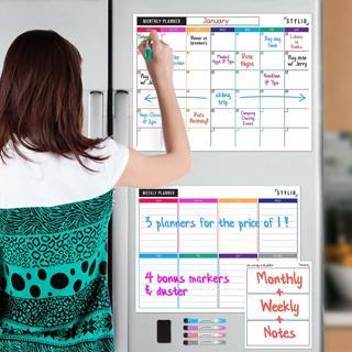 STYLIO Dry Erase Calendar Whiteboard