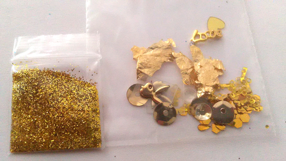 Gold Playboy/ Love Nail Art