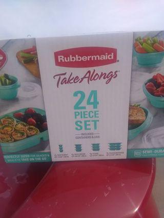 Rubber Maid Takeaways (24 Piece Set)
