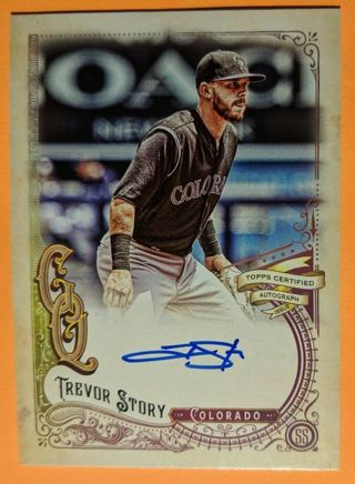 TREVOR STORY * TOPPS CERTIFIED AUTOGRAPH