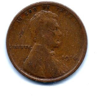 1916 LINCOLN CENT