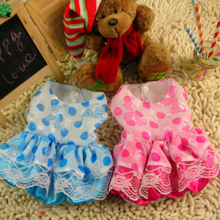 Small Dog Dress Tutu Skirt Chihuahua Princess Lace Pet Cat Puppy Clothes Outfit