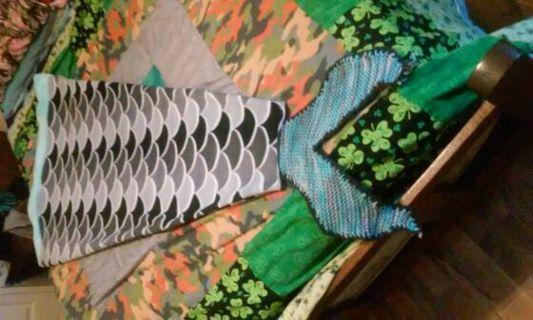 Hand made Mermaid tail blanket