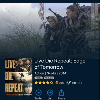 Live.Die.Repeat./Edge of Tomorrow digital HD