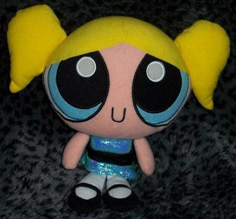 Free Rare Htf Powerpuff Girls 9 Talking Bubbles Plush Dolls