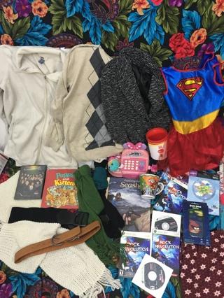 RANDOM LOT RANDOM STUFFED BOX #75 CLOTHING ITEMS PLUS MORE