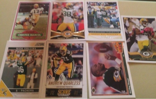 Green Bay Packers 7 Card Lot