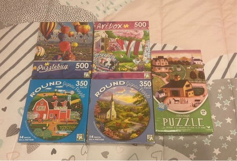 NEW Jigsaw Puzzles - Lot of 5