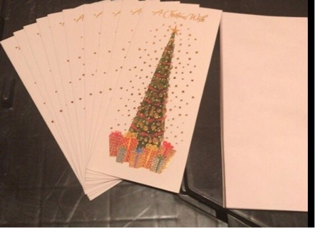 10 Xmas Cards w/Envelopes