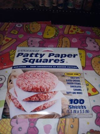 ✨⚛✨BRAND NEW PACK OF (PATTY PAPER SQUARES®) 100 COUNT✨⚛✨5.5 IN. × 5.5 IN.