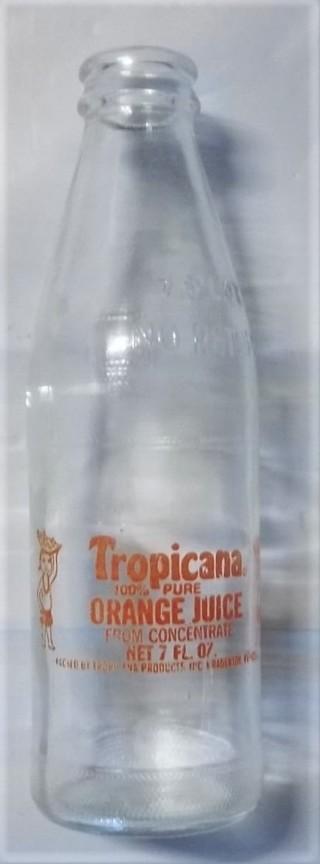 Vintage (No Return ) 7 Fl.oz Tropicana Orange Juice Bottle