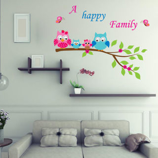 Owl Tree Branch Wall Stickers Vinyl Decal Kids Room Nursery Home Decor