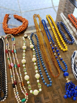 13 pc. Vintage necklace lot~ Some need TLC