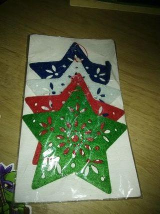 new michael felt ornaments 4 pack