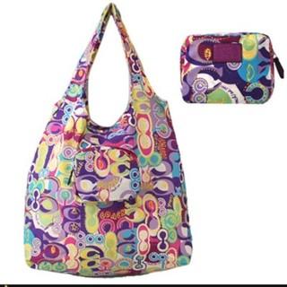 Coach Multicolor Poppy Sis Sig C Print Pouch Folding Tote Handbag Purse