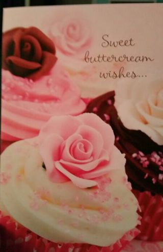 NEW SWEET BUTTERCREAM BIRTHDAY CARD AND ENVELOPE WISHES CA