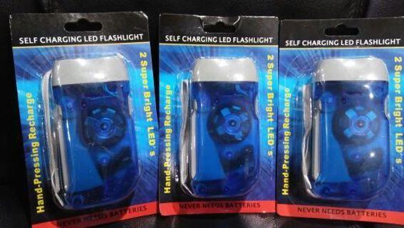 3 no battery flash lights free shipping