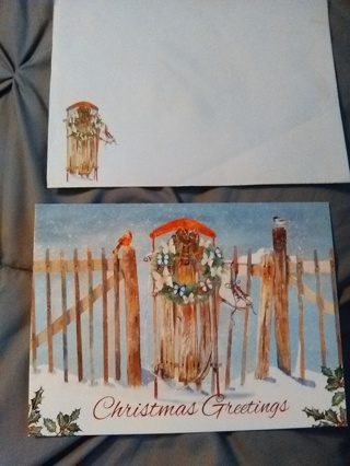 Christmas Card with Envelope -- New!!