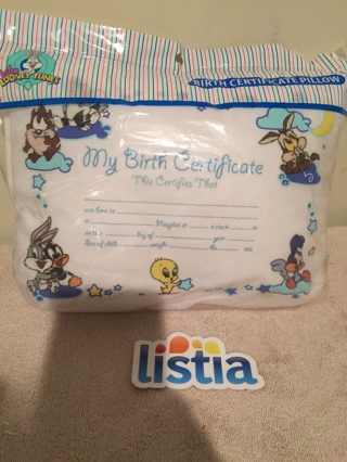 Free Baby Looney Tune Birth Certificate Pillow Other