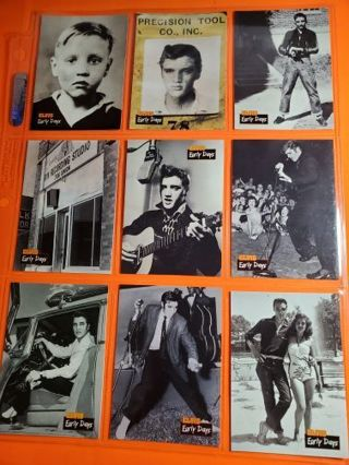 "9 Elvis 1992 ""Early Days"" Cards"