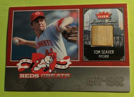 TOM SEAVER * GAME USED BAT CARD