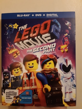 NEW THE LEGO MOVIE THE SECOND PART  BLU-RAY + DVD + DIGITAL