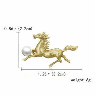 Elegant Rhinestone Crystal Horse with Pearl